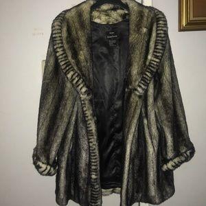 Dennis by Dennis Basso long faux chinchilla coat